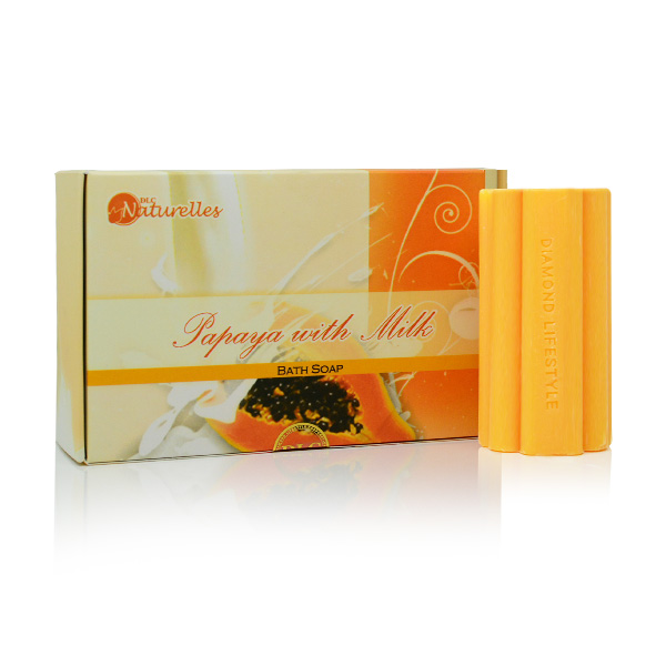 Naturelles Papaya with Milk Soap 3s